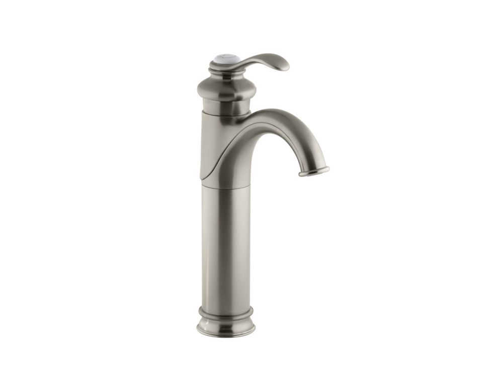 Kohler fairfax tall single control bathroom faucet in for Faucet finishes