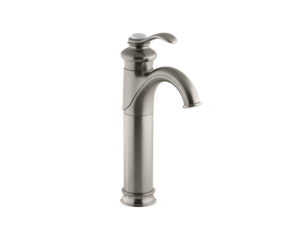 KOHLER Fairfax(R) tall single-hole bathroom sink faucet with single lever handle