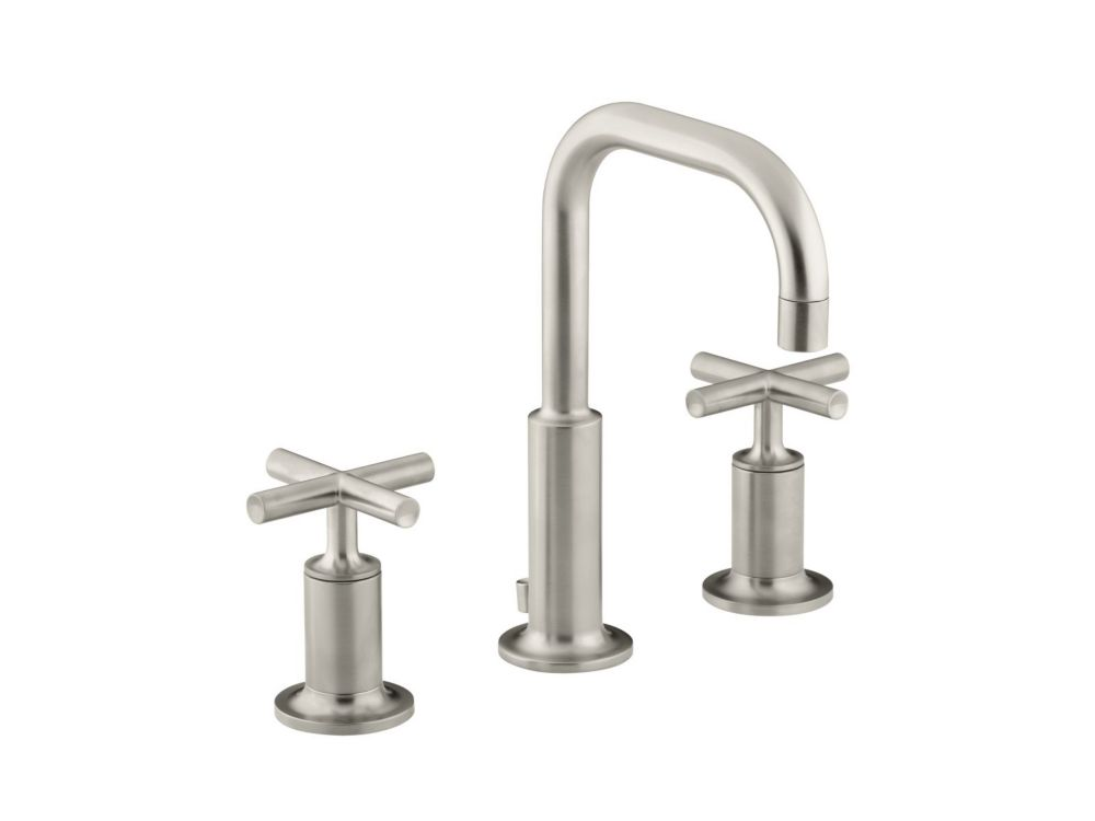 Kohler Purist Widespread Bathroom Faucet In Vibrant Brushed Nickel Finish The Home Depot Canada