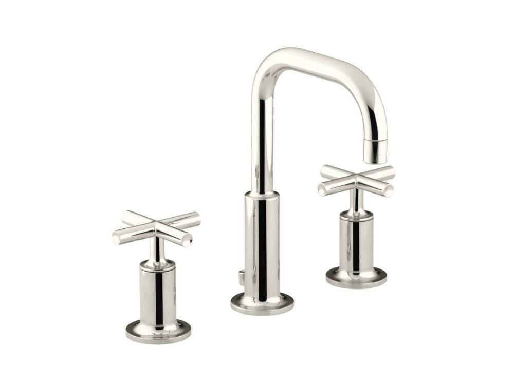 Purist Widespread Bathroom Faucet in Vibrant Polished Nickel Finish
