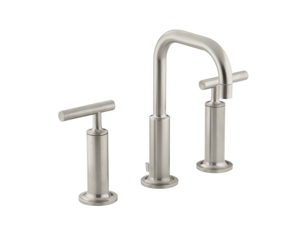 Purist Widespread Lavatory Faucet In Vibrant Brushed Nickel K-14407-4-BN in Canada