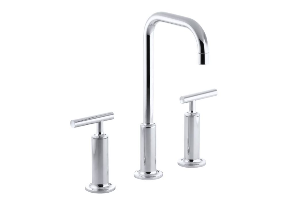 Kohler Purist Widespread Bathroom Faucet In Polished Chrome Finish The Home Depot Canada