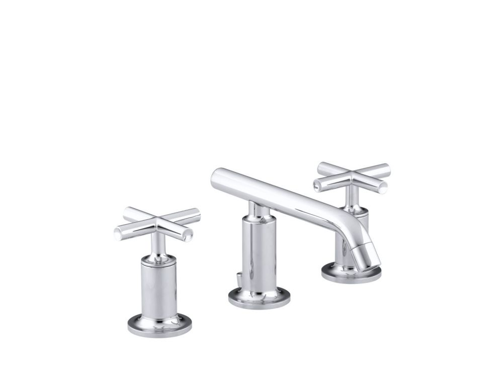Purist Widespread Bathroom Faucet in Polished Chrome Finish