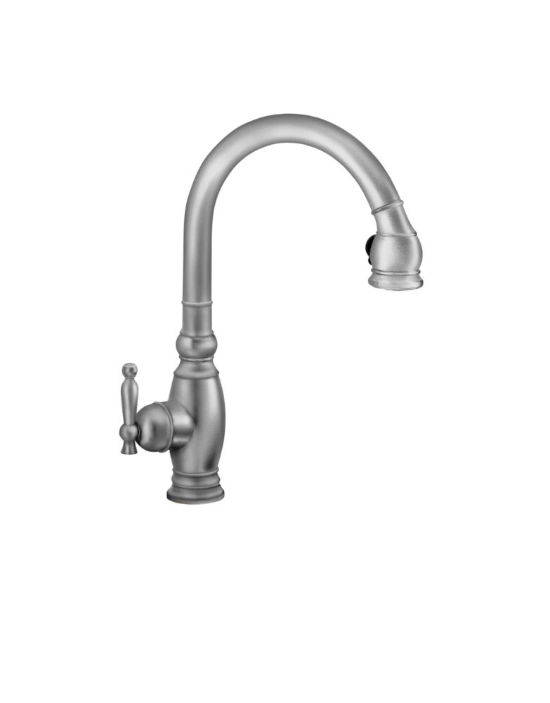 ... Vinnata Kitchen Sink Faucet In Brushed Chrome The Home Depot Canada