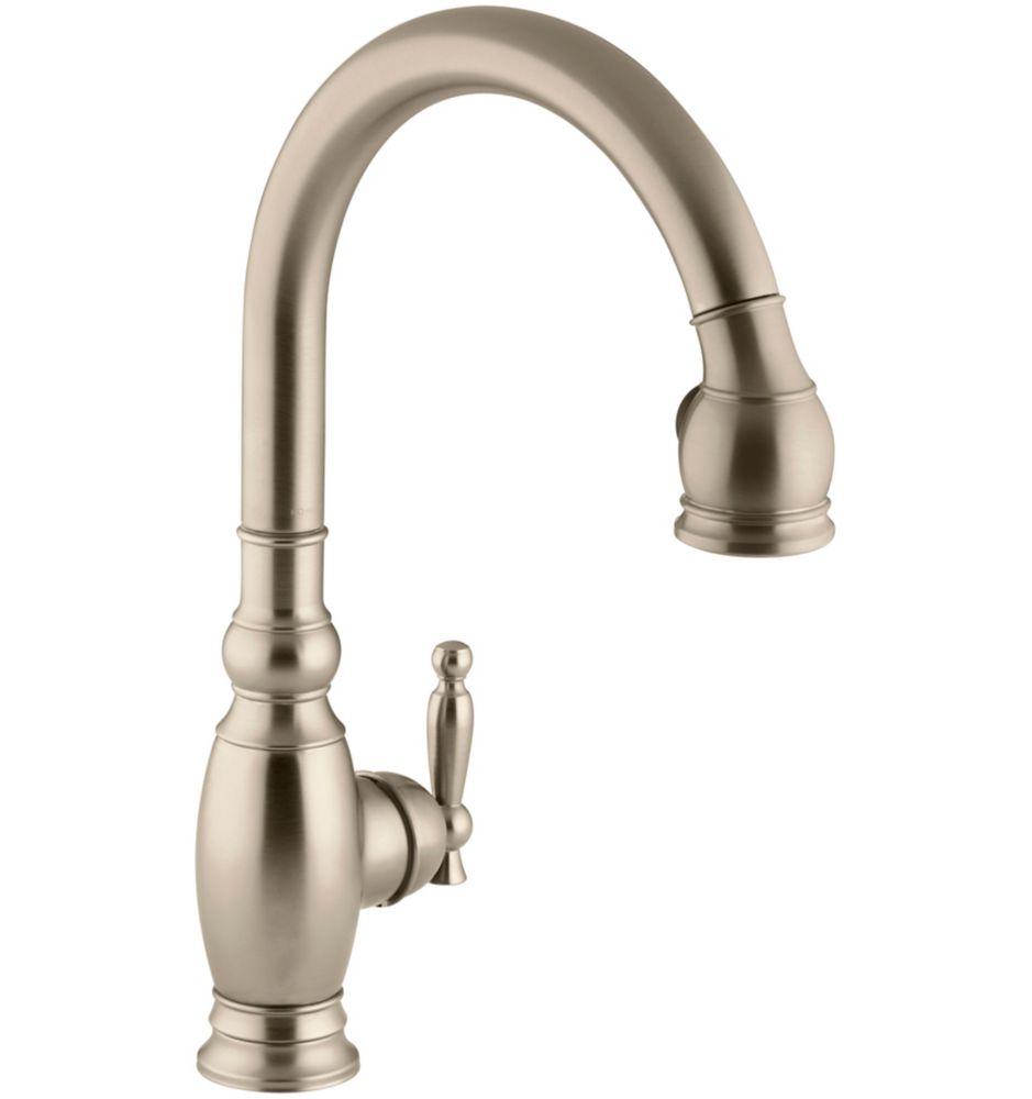 Vinnata Kitchen Sink Faucet In Vibrant Brushed Bronze