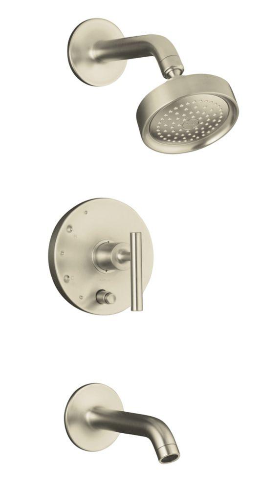 Garniture de robinet de baignoire et de douche à régulation de pression Finial Rite-Temp avec bou...