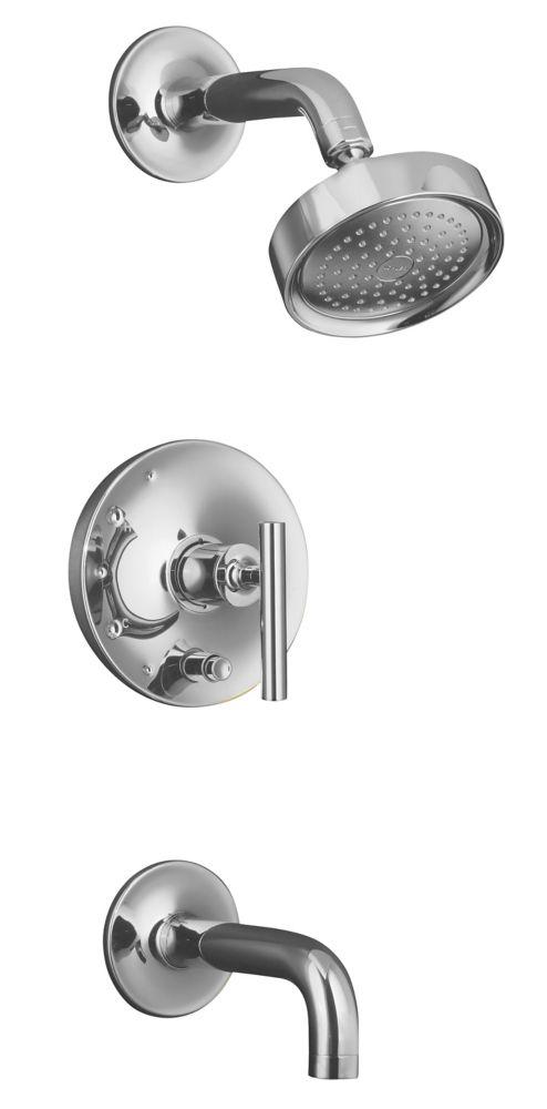 Garniture de robinet de baignoire et de douche à régulation de pression Purist Rite-Temp avec bou...
