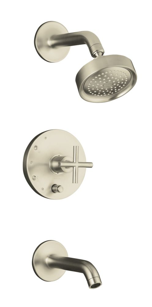 KOHLER Purist Rite-Temp Pressure-Balancing Bath/Shower Faucet in Vibrant Brushed Nickel