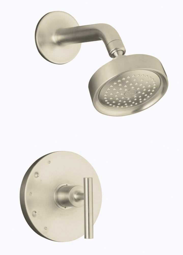 Purist Rite-Temp Pressure-Balancing Shower Faucet Trim, Valve Not Included In Vibrant Brushed Nickel K-T14422-4-BN Canada Discount