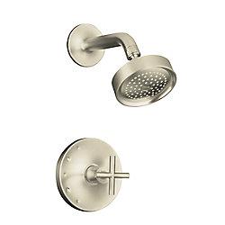 KOHLER Garniture de robinet à régulation de pression Purist Rite-Temp avec poignée cruciforme