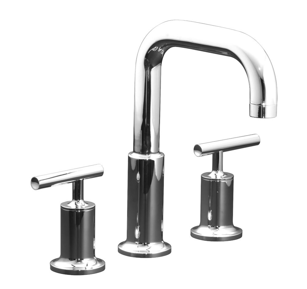 KOHLER Purist Deck or Wall-Mount High-Flow Bathroom Faucet Trim in Polished Chrome Finish