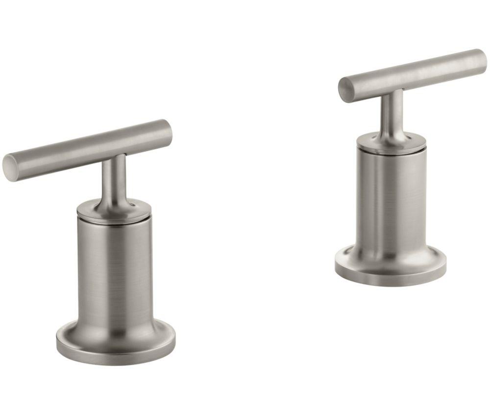 KOHLER Purist Deck or Wall-Mount High-Flow Bathroom Faucet Trim in Vibrant Brushed Nickel Finish