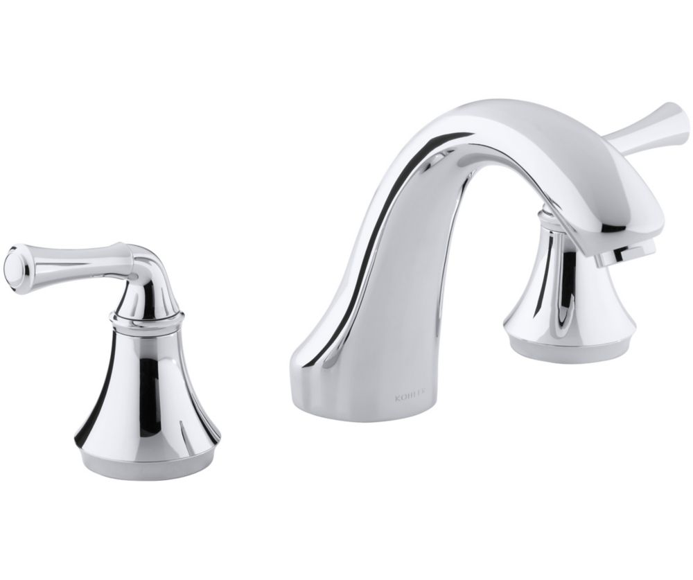 KOHLER Forté Bath or Deck-Mount Rim Valve Trim Only in Polished Chrome Finish
