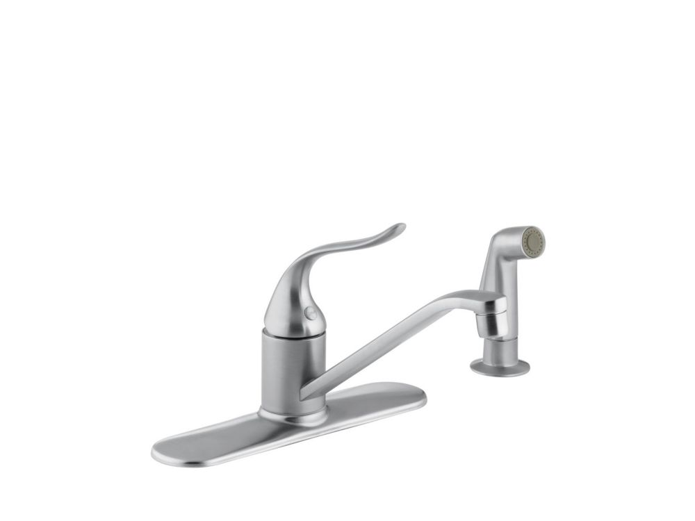 Coralais Single-Control Kitchen Sink Faucet In Brushed Chrome