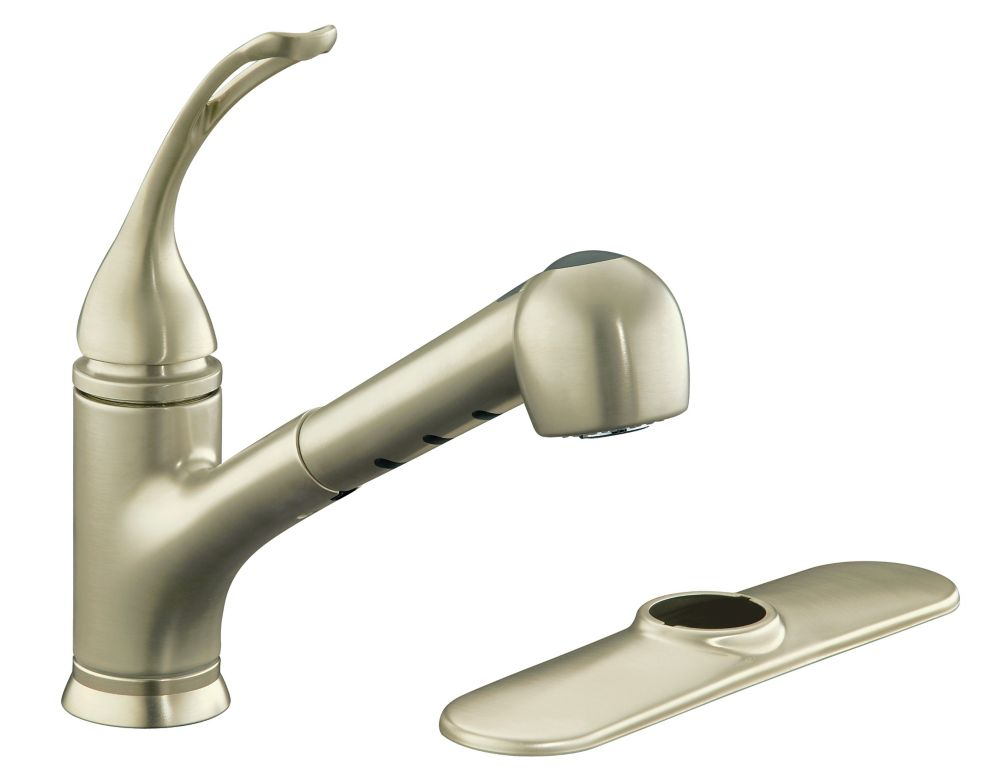 KOHLER Coralais Single Control Pullout Spray Kitchen Sink Faucet In Vibrant B
