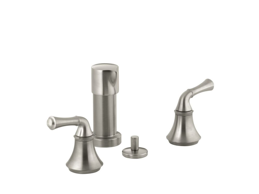 Forté Bidet Faucet with Traditional Lever Handles in Vibrant Brushed Nickel