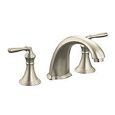 Devonshire Deck/Rim Mount High Flow Bathroom Faucet In Vibrant Brushed  Nickel Finish