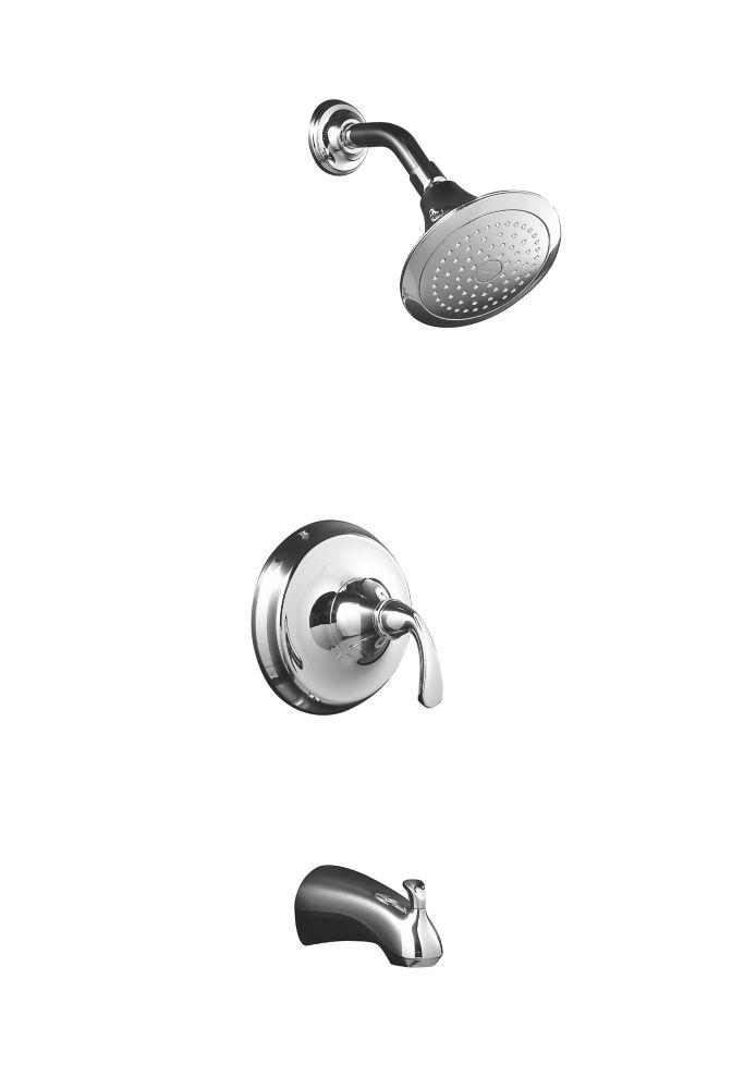 Garniture de robinet de baignoire et de douche à régulation de pression Forté Rite-Temp avec poig...