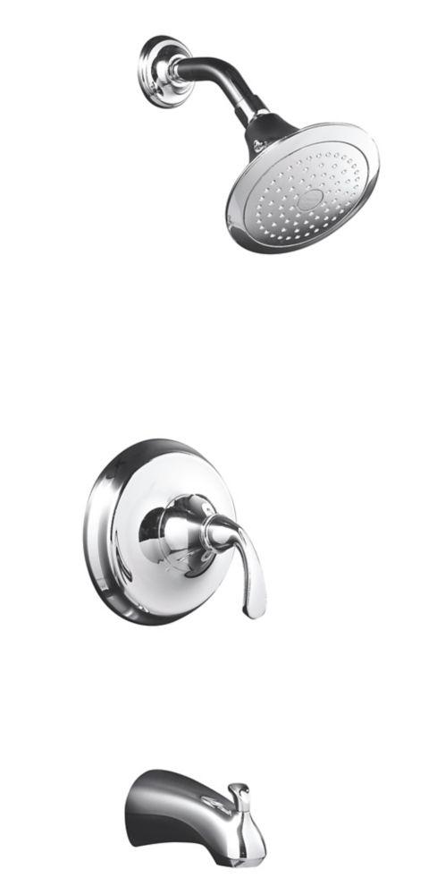 Garniture de robinet régulateur de pression de baignoire et de douche avec bec coulissant et poig...