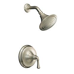 KOHLER Garniture de robinet de douche à régulation de pression Forté Rite-Temp avec poignée à levier traditionnelle