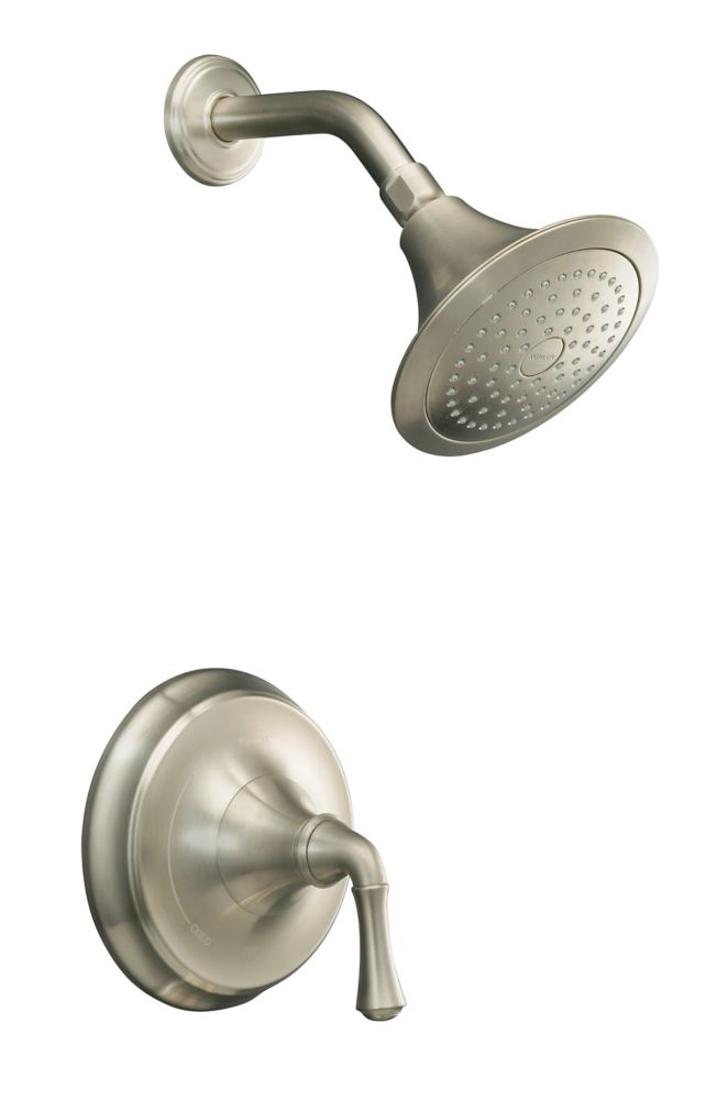 KOHLER Forté Rite-Temp Pressure-Balancing Shower Faucet in Vibrant Brushed Nickel