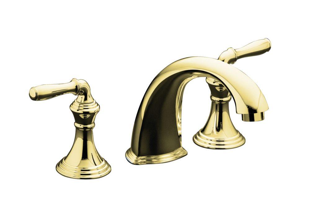 Garniture de robinet et de baignoire haut-débit à montage sur comptoir/rebord Devonshire avec bec...