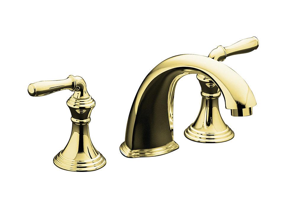 """Devonshire(R) deck-/rim-mount bath faucet trim for high-flow valve with 9"""" non-diverter spout"""
