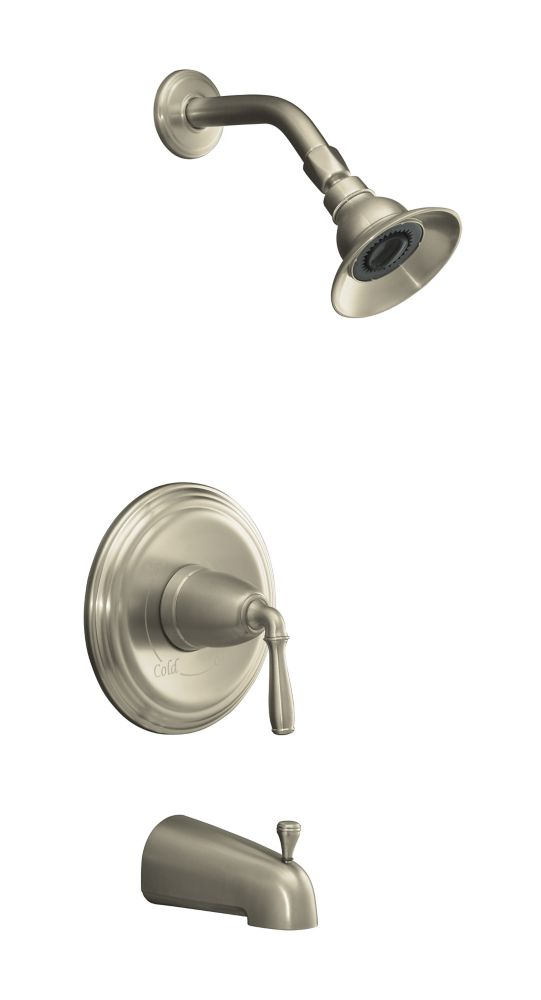 Devonshire Rite-Temp Pressure-Balancing Bath/Shower Faucet in Vibrant Brushed Nickel