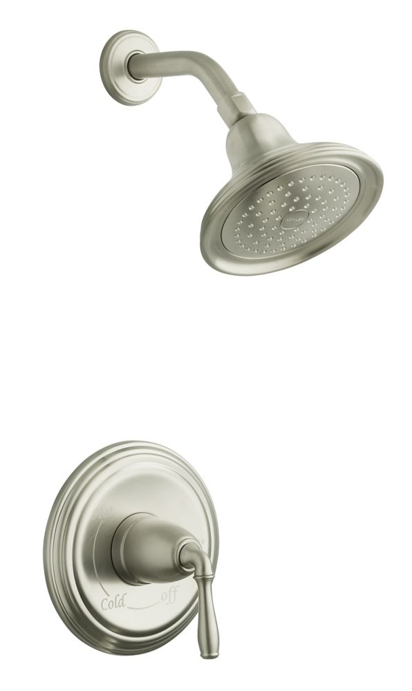 KOHLER Devonshire Rite-Temp Pressure-Balancing Shower Faucet in Vibrant Brushed Nickel