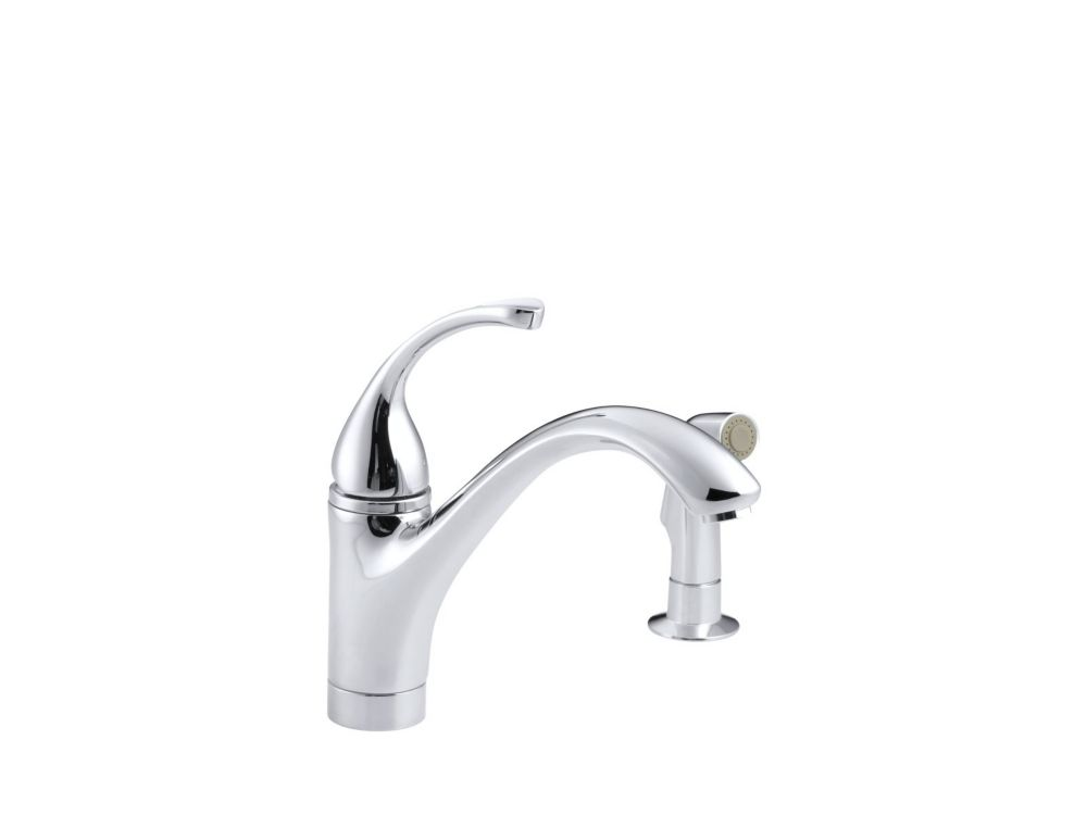 Forté Single-Control Kitchen Sink Faucet With Sidespray And Lever Handle In Polished Chrome