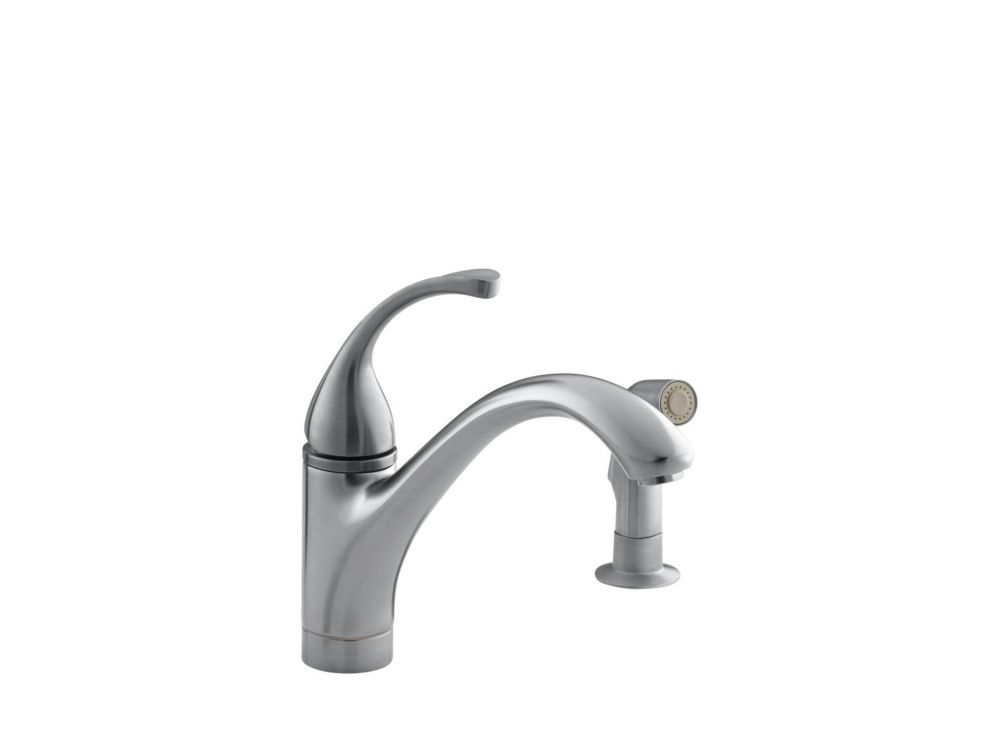 Forté Single-Control Kitchen Sink Faucet With Sidespray And Lever Handle In Brushed Chrome