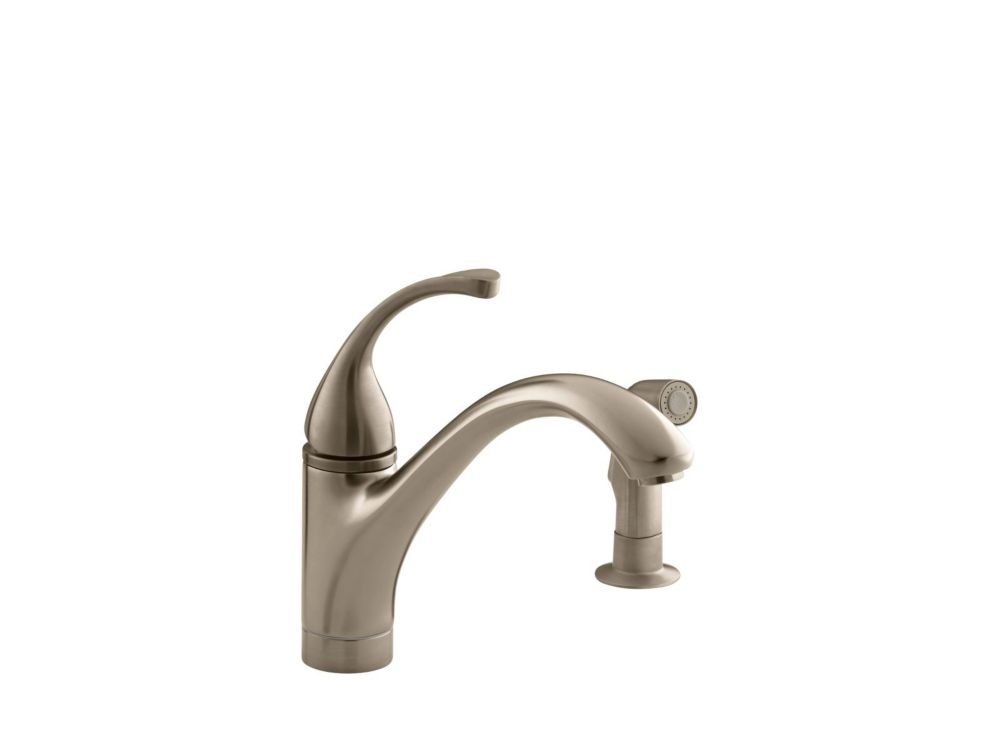 Forté Single-Control Kitchen Sink Faucet With Sidespray And Lever Handle In Vibrant Brushed Bronz...