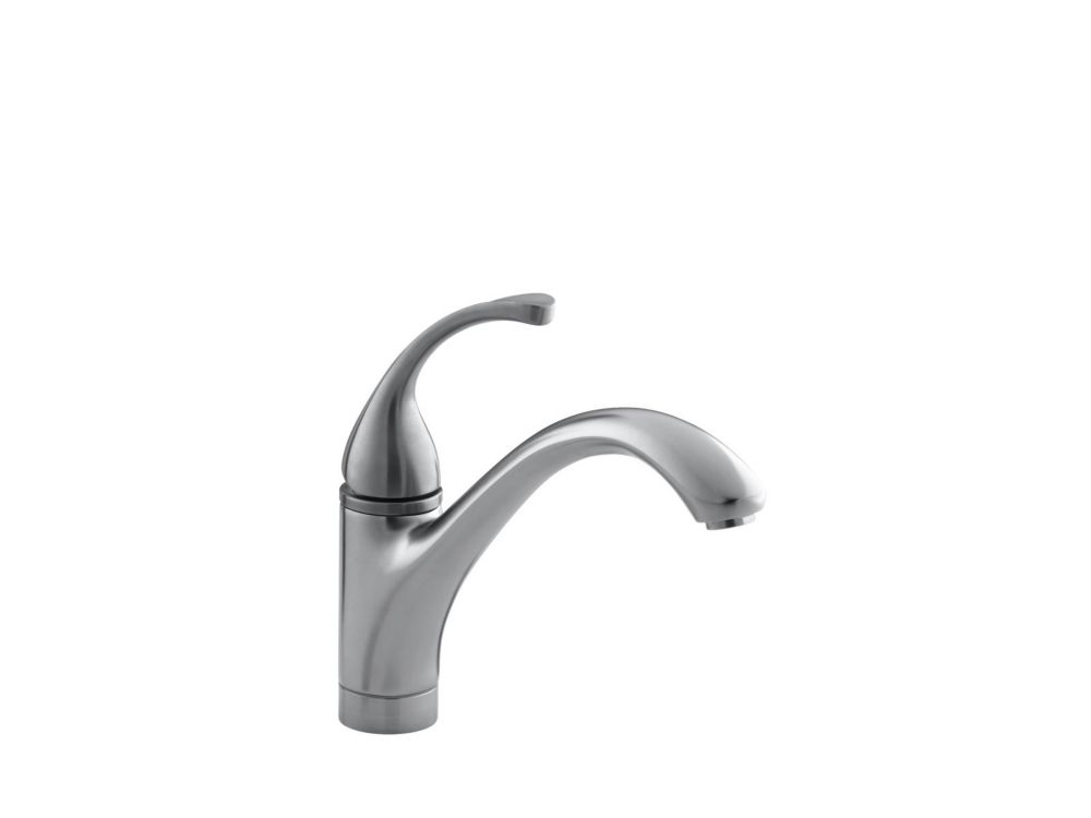 Forté Single-Control Kitchen Sink Faucet With Lever Handle In Brushed Chrome