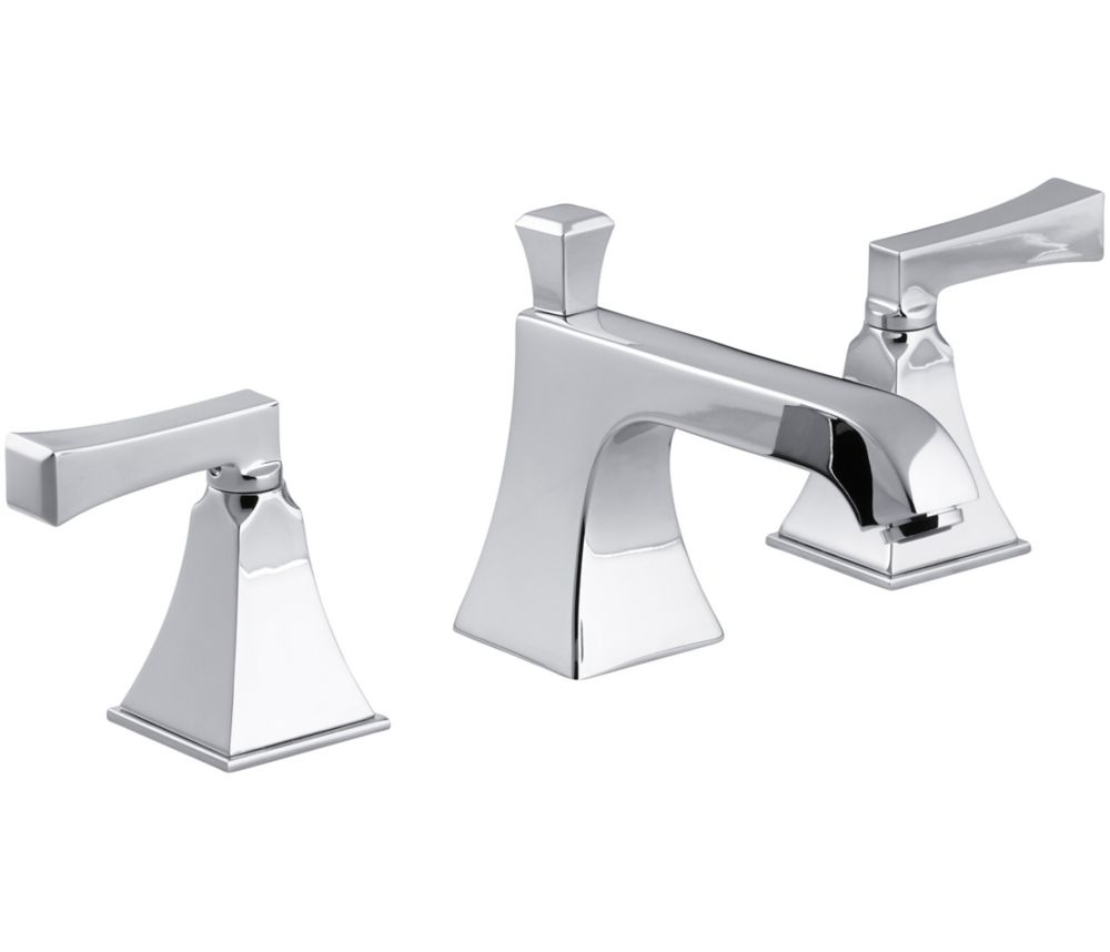 Memoirs Widespread Bathroom Faucet with Stately Design in Polished Chrome Finish