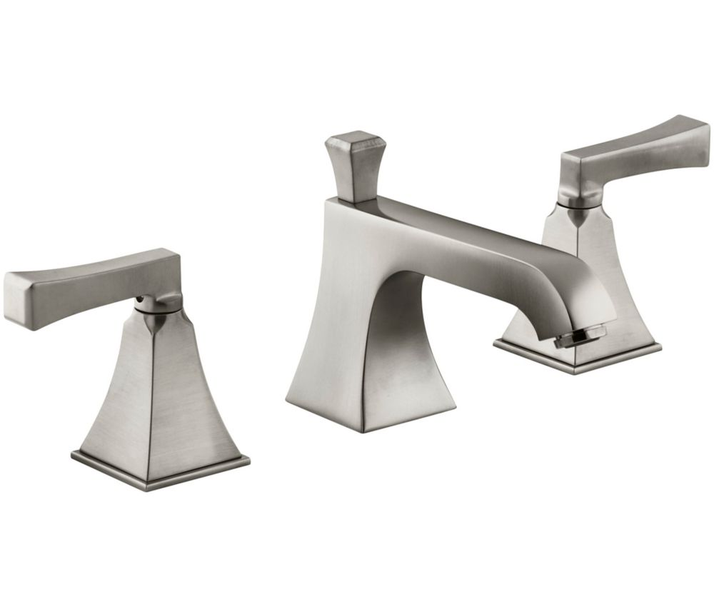 Memoirs Widespread Bathroom Faucet with Stately Design in Vibrant Brushed Nickel Finish