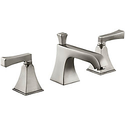KOHLER Memoirs(R) Stately widespread bathroom sink faucet with deco lever handles
