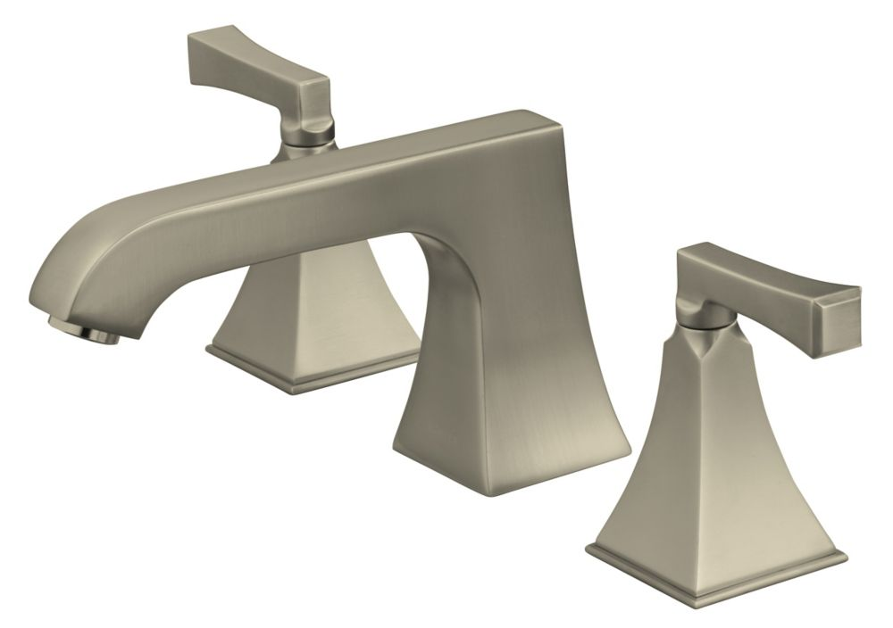 Memoirs Deck-Mount High-Flow Bathroom Faucet in Vibrant Brushed Nickel Finish