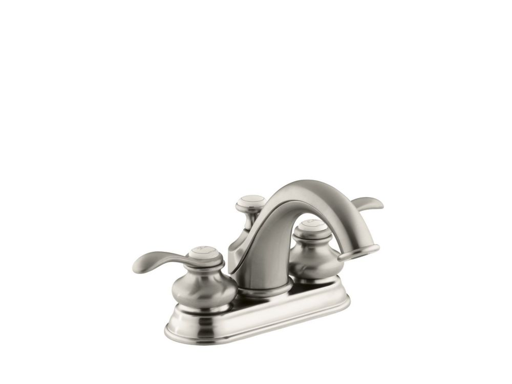 Fairfax Centreset Bathroom Faucet in Vibrant Brushed Nickel Finish