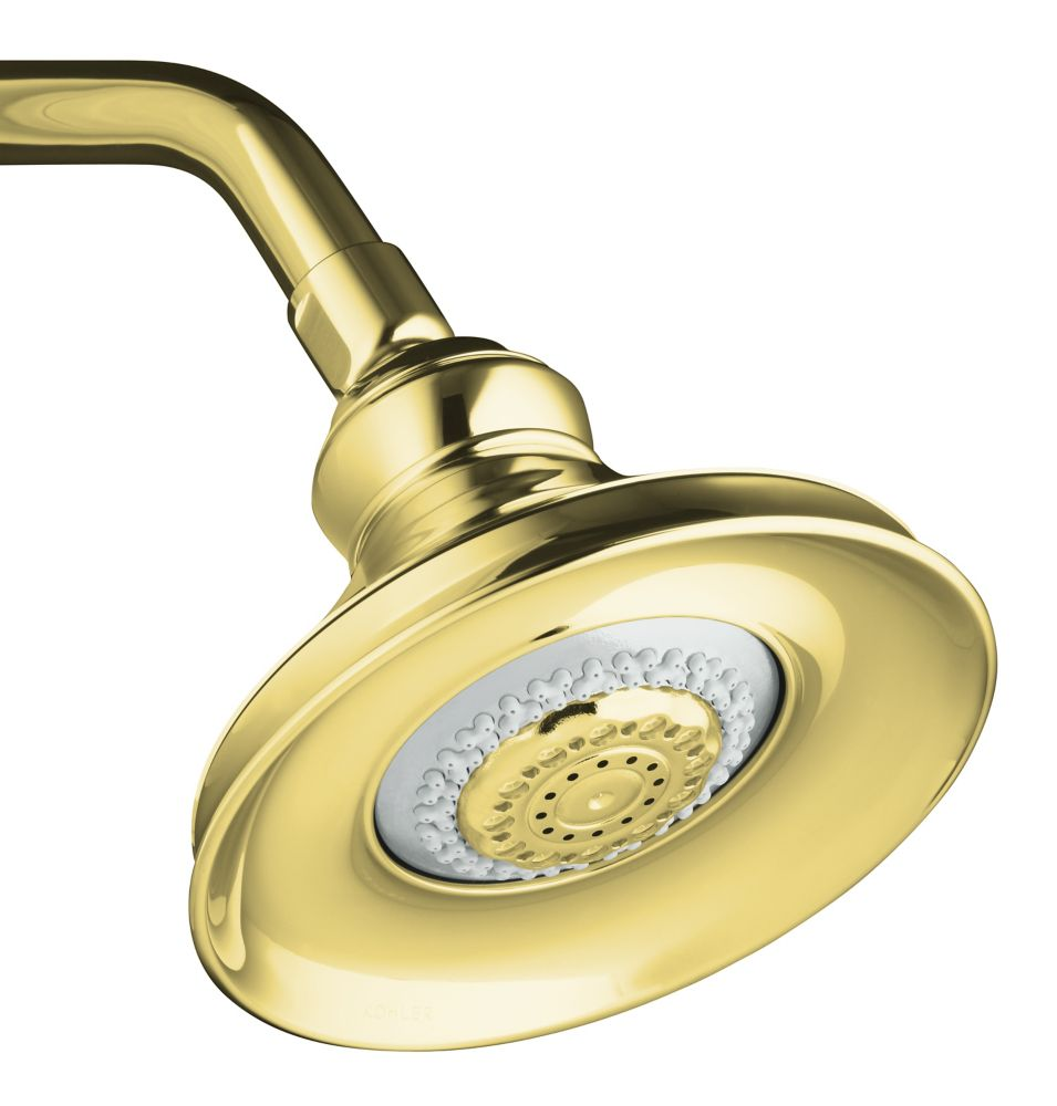 Revival Multi-Function Showerhead in Vibrant Polished Brass