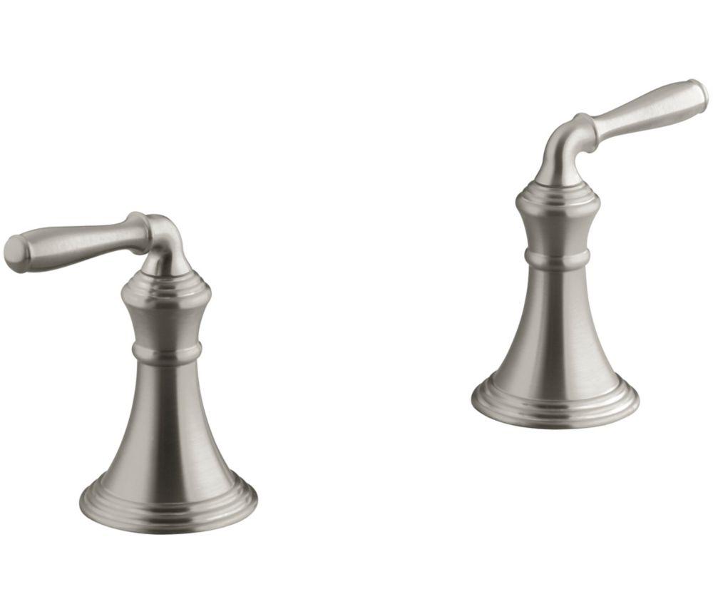 Robinet de baignoire Devonshire à montage sur comptoir/rebord avec poignées à levier