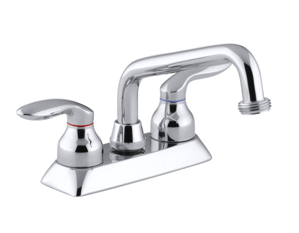 Coralais Laundry Sink Faucet In Polished Chrome