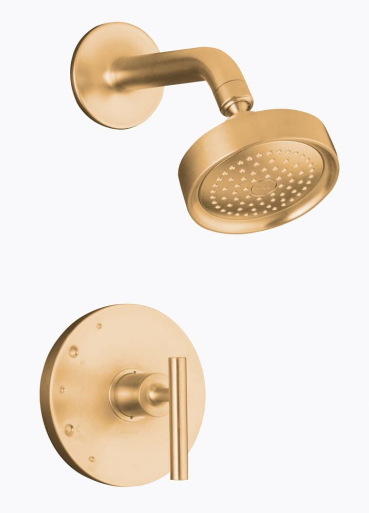KOHLER Purist Rite-Temp Pressure-Balancing Shower Faucet in Vibrant Brushed Bronze