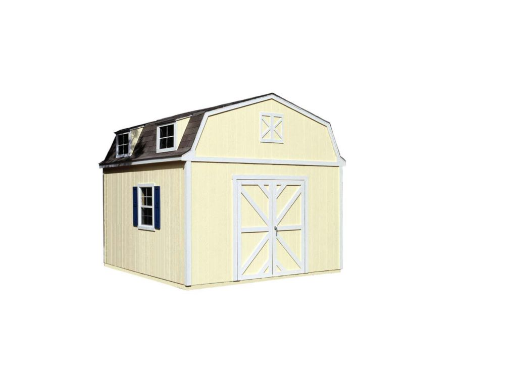 Handy Home Products Sequoia 12 ft. x 12 ft. Storage Building Kit