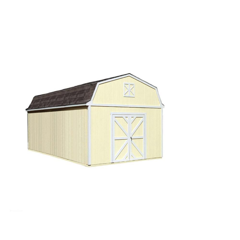 Handy Home Products Sequoia 12 ft. x 24 ft. Storage Building Kit with Floor