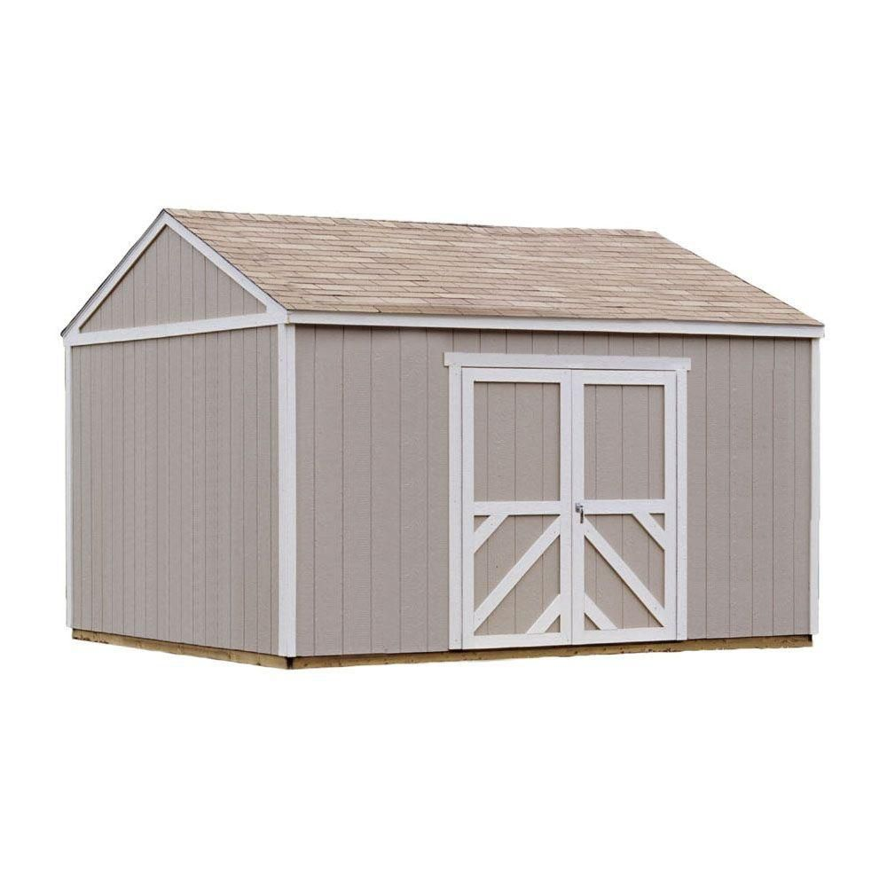 Handy Home Products Columbia 12 ft. x 16 ft. Storage Building Kit with Floor
