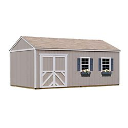 Handy Home Products Columbia 12 ft. x 20 ft. Wood Storage Building Kit