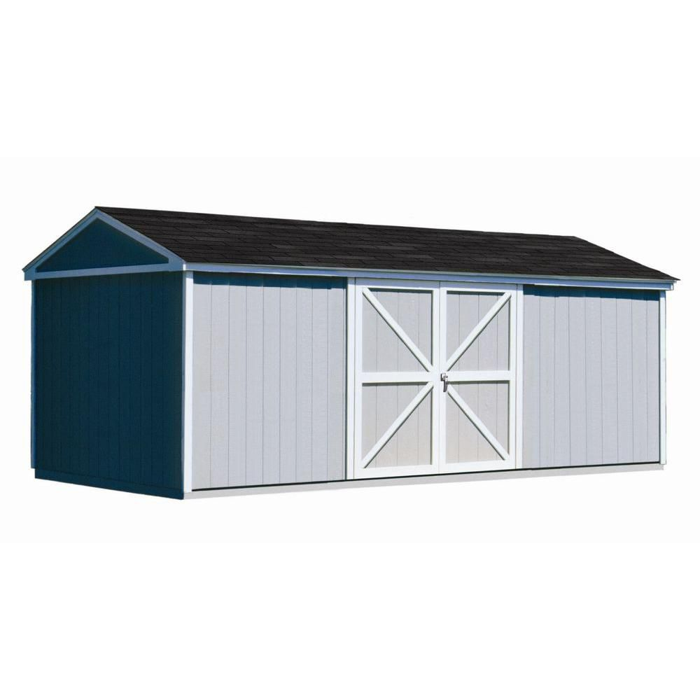 Handy Home Products Somerset 10 ft. x 18 ft. Wood Storage Building Kit