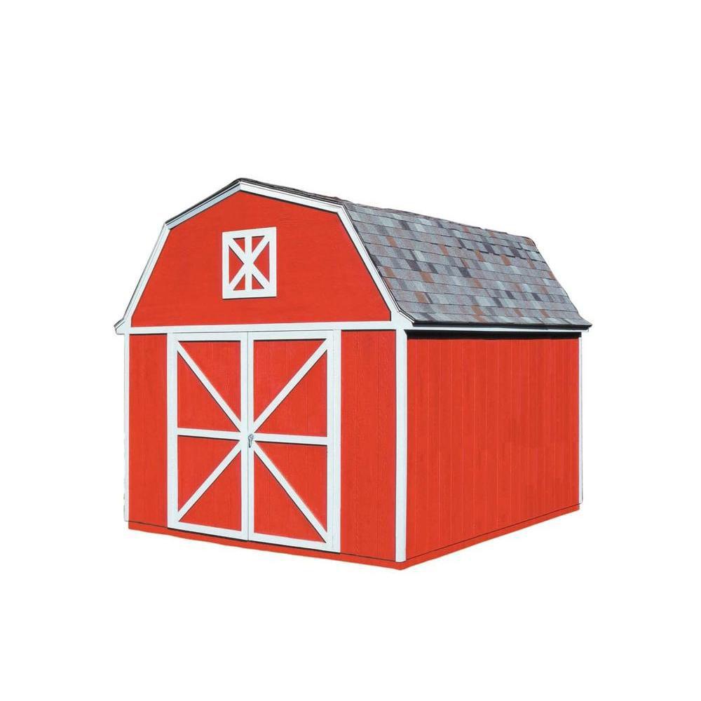 Berkley 10 ft. x 14 ft. Storage Building Kit with Floor