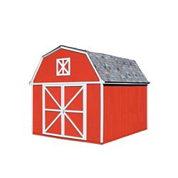 Handy Home Products Berkley 10 ft. x 14 ft. Wood Frame & Primed Siding Shed Kit with Floor
