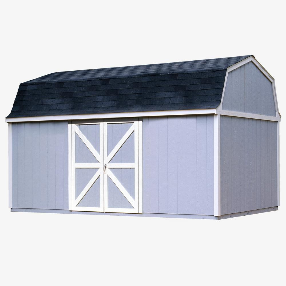 Handy Home Products Berkley 10 ft. x 16 ft. Storage Building Kit with Floor